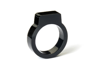 "BLING-BLINK ""SIGNET"" ACYLIC RING (Black) design by AMTStudio"