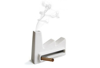 ASHTRAY (INCENSE) FACTORY IN WHITE by Invotis Orange