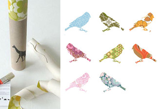 WALLPAPER MENAGERIE (BIRDS) by Inke Heiland
