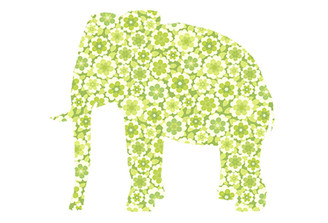 WALLPAPER WILDLIFE ELEPHANT by Inke Heiland wm-elephant-0119