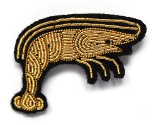 MACON & LESQUOY SMALL SHRIMP PIN (GOLD)