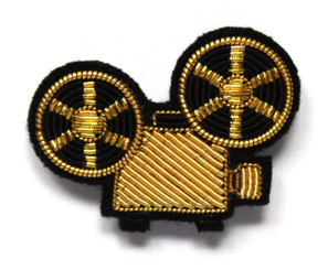 SMALL PROJECTOR PIN (GOLD) BY MACON AND LESQUOY