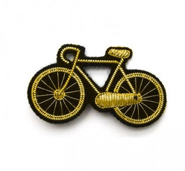 LARGE BICYCLE PIN (GOLD) BY MACON AND LESQUOY
