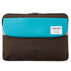 "MILESTO 13"" LAPTOP CASE TURQUOISE / BROWN"
