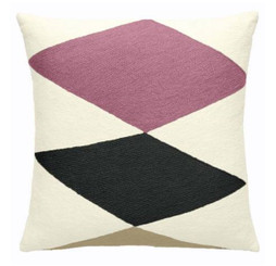 JUDY ROSS WOOL PILLOW- ACE (cream/dusty pink/charcoal/blonde)