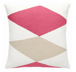 JUDY ROSS WOOL PILLOW- ACE (cream/orchid/oyster/orchid)