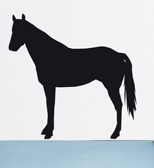 DOMESTIC WALL STICKER - DOMESTIC HORSE design by Ana Mir+Emili Padros