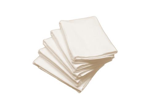 Set of 5 - Plain Burp Cloths