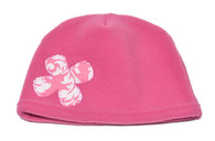 Fleece Hat -Pink Flower