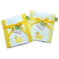 Set of 2 Sale Rubber Ducky Burp Cloths