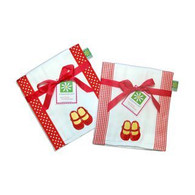 Set of 3 Burp Cloths - Mary Jane