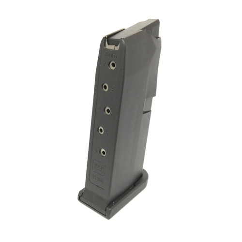 Glock 43 6 round magazine flat base plate.