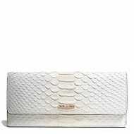 Madison Pinnacle Python-Embossed Sof Wallet