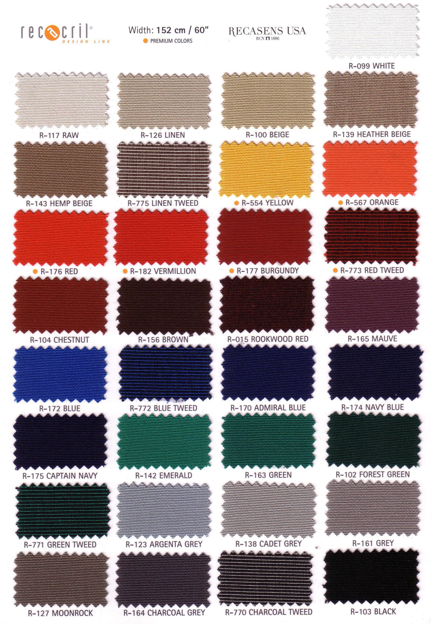 Canvas Recacril J Amp J Auto Fabrics Inc