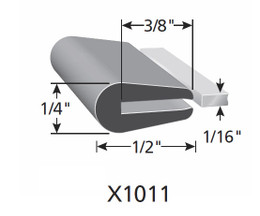 "Fits up to a 1/16"" Edge Thickness with a Leg Length of 1/2"""