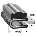 "Snap-on Trim is BLACK Center CHROME Outer Edge is BLACK Fits up to a 1/8"" Edge Thickness with a Leg Length of 9/16"""