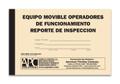 APC UMS-1010 (Spanish): Equipo Movible Operadores De Funcionamiento Reporte De Inspeccion