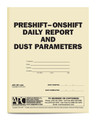 APC DP-1489: Pre-shift On-shift Daily Report and Dust Parameters