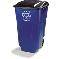 345050REC14 - 50 Gallon Bronco   Recycle Rolling Container (Pack of 2)