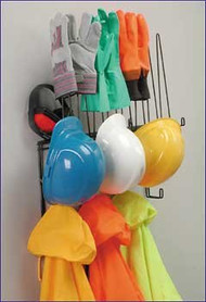 "414021 - Stainless Steel ""Space-Saver""™ PPE Storage Rack"