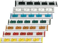 "414140 - 20"" Aluminium Rail w/5 #HDHOOK1 Hangers"