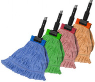 610018 - Premium Color-Coded Wet Mop - Wide Band (Box of 6)