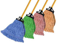 610017 - Premium Color-Coded Wet Mop - Narrow Band (Box of 6)