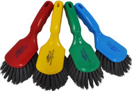 "142025MD - Metal Detectable Fiber 10"" Short Handled Hand Brush"