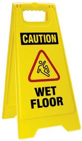 OSHA Caution Folding Wet Floor Sign