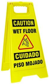 Bilingual Wet Floor Fold-Ups Sign