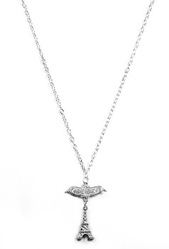 Sterling Silver Paris Necklace at 2 Lisas Boutique