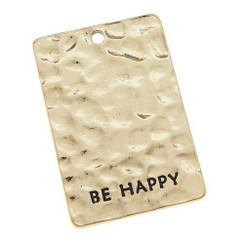 Be Happy Antique Gold Blank