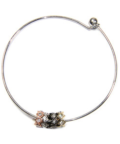 Four-tone Crystal Slider Bangle