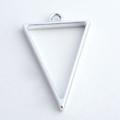 Open Frame Pendant Tiangle 30x20mm Matte Silver 10/pkg
