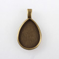 Drop Flat Pendant 25x18mm – Antique Bronze 10/pkg