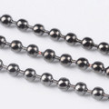 Iron Ball Chain 2mm Gunmetal 10m