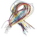 Necklaces Organza & Cord 43cm Mixed Colours 22/pkg