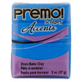 Premo! Sculpey Accents Polymer Clay - Blue Translucent #5040