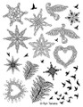 Designs by Ryn Unmounted Rubber Stamp Sheet – Winter