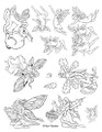 Designs by Ryn Unmounted Rubber Stamp Sheet – Faeries