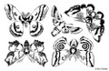Designs by Ryn Unmounted Rubber Stamp Sheet – Moon Wings