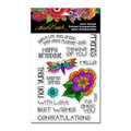 Stampendous Clear Stamp Set – Laurel Burch Floral Greetings SSCL103