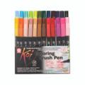 Koi Coloring Brush Pen - 24 Color Set