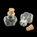 Mini Corked Glass Vials 2/pkg Flower-Shaped