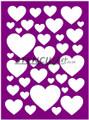Stencil - Mixed Hearts