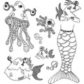 Dyan Reaveley's Dylusions Cling Stamp Set – Plenty of Fish in the Sea DYR59516