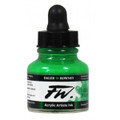 FW Acrylic Artists' Ink 29.5ml - Emerald Green #335