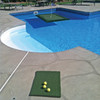3' x 4' Floating Golf Green shown with the tee box mat.