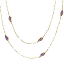Long Leaf Amethyst Necklace