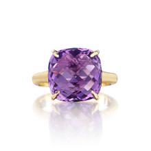 Amethyst Cushion Signature Ring